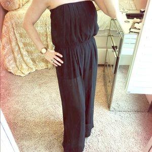 Black Jumpsuit Summer Sheer Size Medium